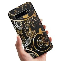 Samsung Galaxy S10e - Skal / Mobilskal Guldmönster
