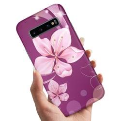Samsung Galaxy S10e - Skal / Mobilskal Vit Blomma