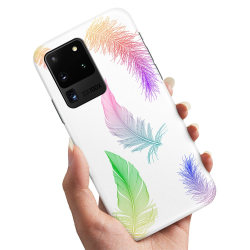 Samsung Galaxy S20 Ultra - Skal / Mobilskal Fjädrar