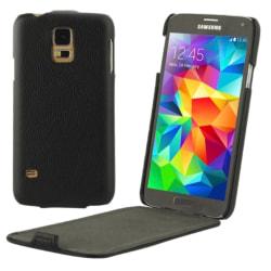Samsung Galaxy S5 Flipfodral Litchi Svart Svart