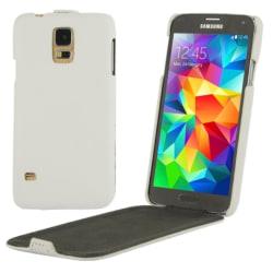 Samsung Galaxy S5 Flipfodral Litchi Vit white
