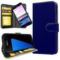 Samsung Galaxy S5 - Plånboksfodral Mörkblå darkblue