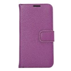 Samsung Galaxy S6 Edge Plånboksfodral Lyché Läder Lila purple