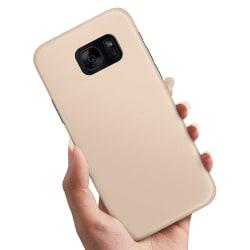 Samsung Galaxy S6 Edge - Skal / Mobilskal Beige