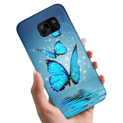 Samsung Galaxy S6 Edge - Skal / Mobilskal Glittrande Fjärilar