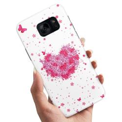 Samsung Galaxy S6 - Skal / Mobilskal Blomhjärta