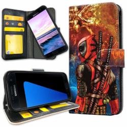 Samsung Galaxy S7 Edge - Plånboksfodral Deadpool Space