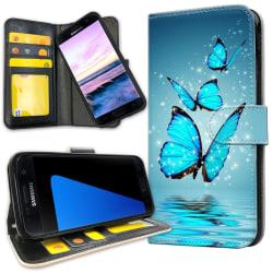 Samsung Galaxy S7 Edge - Plånboksfodral Glittrande Fjärilar