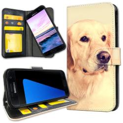 Samsung Galaxy S7 Edge - Plånboksfodral Golden Retriever