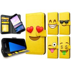 Samsung Galaxy S7 Edge - Plånboksfodral / Skal Emoji 6