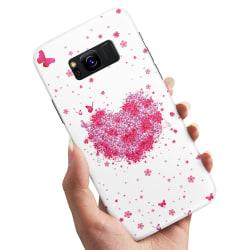 Samsung Galaxy S8 - Skal / Mobilskal Blomhjärta