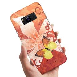 Samsung Galaxy S8 - Skal / Mobilskal Fjäril & Blomma