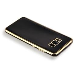Samsung Galaxy S8 - TPU Skal / Mobilskal (Svart/Guld) gold