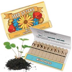 Seed Sticks / Blandade Växtfrön / Fröer - (10-pack) Vilda blommor