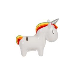 Sparbössa Enhörning / Spargris - Unicorn / Ponny - 13cm Vit