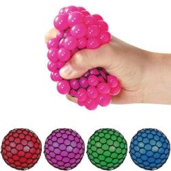 Stressboll / Klämboll i Nät - 7 cm - Välj färg! Lila