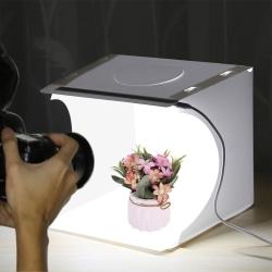 Tält för Fotografering / Ljustält m. LED-panel - Fotobox (550LM)