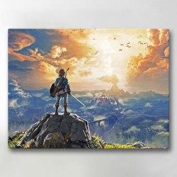Tavla / Canvastavla - Legend of Zelda - 42x30 cm - Canvas