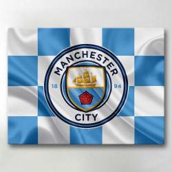 Tavla / Canvastavla - Manchester City - 42x30 cm - Canvas