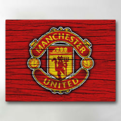 Tavla / Canvastavla - Manchester United - 24x18 cm - Canvas