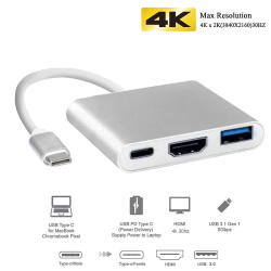 Thunderbolt 3 / Macbook USB-C Adapter - HDMI & USB 3.0