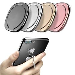 Tunn Mobilring Glans / Mobilhållare / Ringhållare för Mobil Svart
