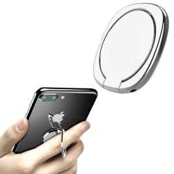 Tunn Mobilring Glans / Mobilhållare / Ringhållare Mobil - Silver