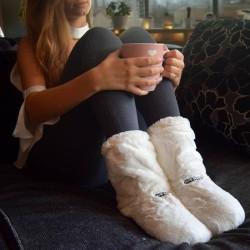 Värmetofflor / Tofflor - Värmer upp Fötter - Innetofflor - Vit Vit