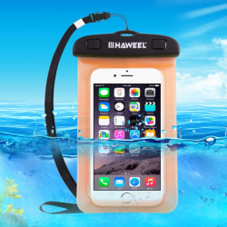 Vattentät Påse / Fodral / Skydd för Mobil - Orange Orange