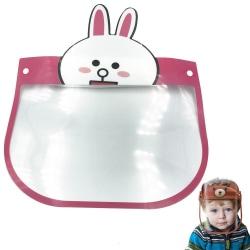 Visir för Barn / Skyddsvisir - Skydd för Ansikte Mun - Djur Transparent Kanin