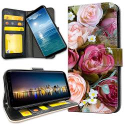 Xiaomi Mi A2 Lite - Plånboksfodral Blommor