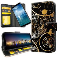 Xiaomi Mi Note 10 - Plånboksfodral Guldmönster