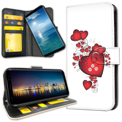 Xiaomi Mi Note 10 - Plånboksfodral Hjärtan