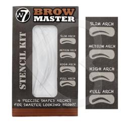 W7 Brow Master Stencil Kit - Ögonbrynsmall 4 st