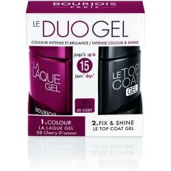 Bourjois 2-Step DUO Gel Polish Kit-Cherry D'Amour & Top coat