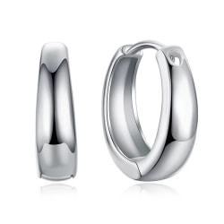 Blanka Små Hoop Silver Örhängen - Klassiska & Stilrena  Silver
