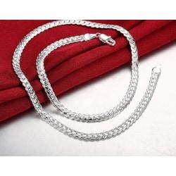 Elegant Silver Halsband - Lyxig & Vacker Design på Länk / Kedja Silver