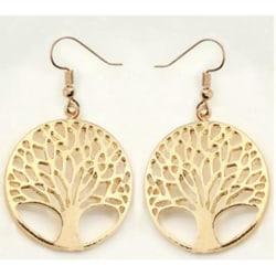 Guld Örhängen - Livets Träd - Symbol för Livet - Tree of Life Guld
