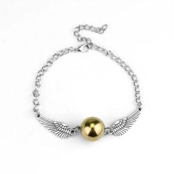 Harry Potter Armband - Gyllene Kvicken - Golden Snitch - Silver Silver