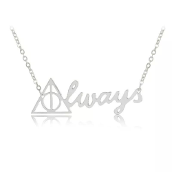 Harry Potter Halsband - Dödsrelikerna - Always - Silver Silver