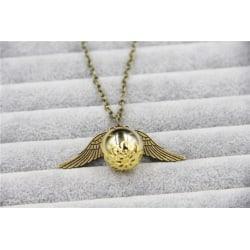 Harry Potter Halsband - Gyllene Kvicken - Golden Snitch - Brons Brons
