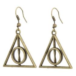 Harry Potter Örhängen - Deathly Hallows - Dödsrelikerna - Brons Brons