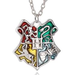 Harry Potter Silver Halsband - Hogwarts Vapensköld/Sköld/Crest Silver