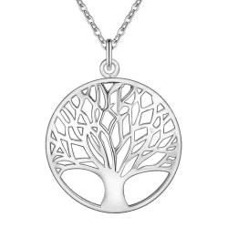 Silver Halsband - Livets Träd - Symbol för Livet Silver