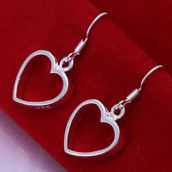Silver Örhängen med Hängande Hjärtan / Heart  Silver