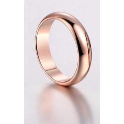 Slät Blank Rosé Guld Ring - Vacker & Stilren Design - Stl 18,9 Rosa guld