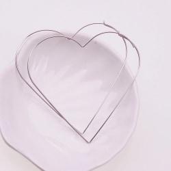 Stora Hoop Silver Örhängen i form av Hjärtan / Hjärtformade Silver