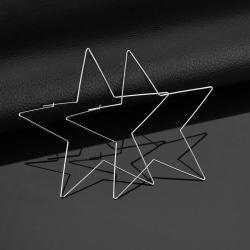 Stora Hoop Silver Örhängen i form av Stjärnor / Stjärnformade Silver