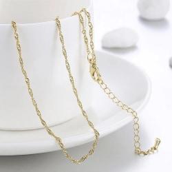 Tunt Fint Guld Halsband med Tvinnad Kedja - Stilren Design Guld