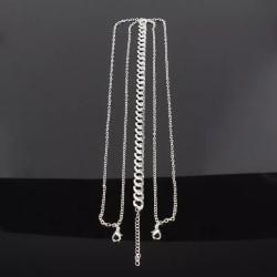 Vintage Hårsmycke / Boho Bohemiskt Hår Smycke med Silver Kedjor  Silver